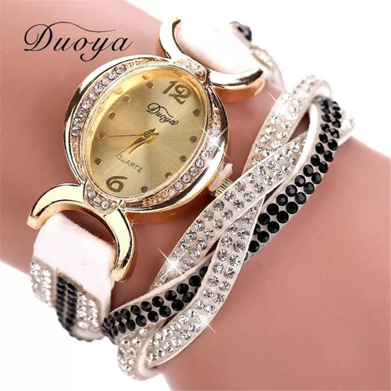 Relógio Feminino Bracelete De Strass