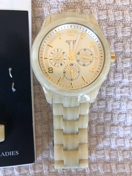 Relógio Guess Original Em Madrepérola
