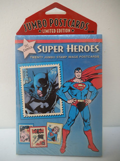 Jumbo Postcards Super Heroes Dc Comics Batman Superman Jla
