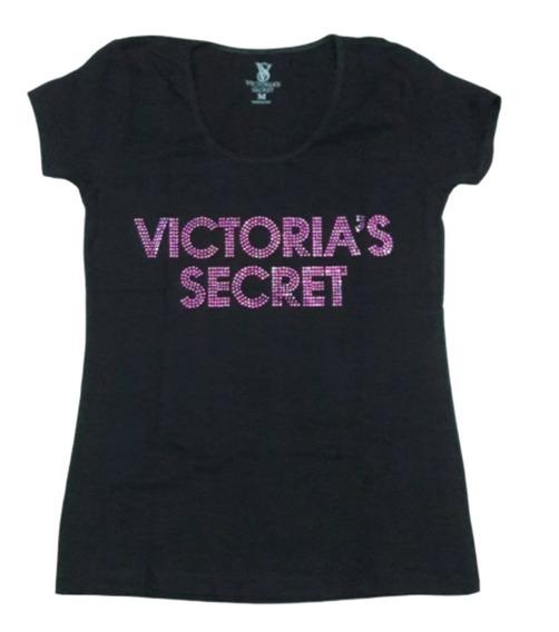 Victorias Secret Remera Strass Mujer Algodón/lycra S M L Xl