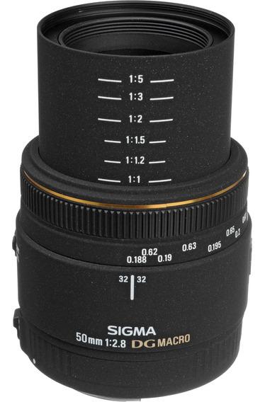 Lente Sigma Sony Dg 50mm F/2.8 Ex Macro