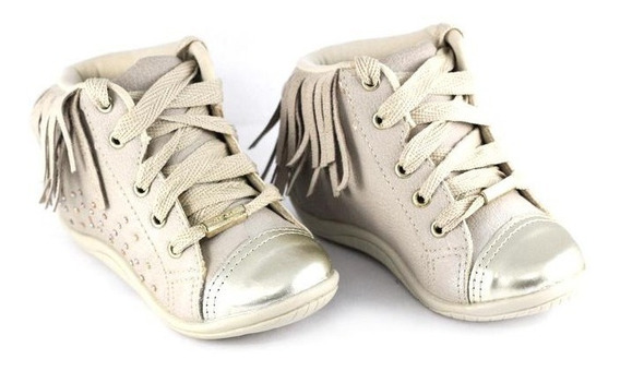 Sandália Brink Infantil Dourada Com Glitter Nº30 Ao 37