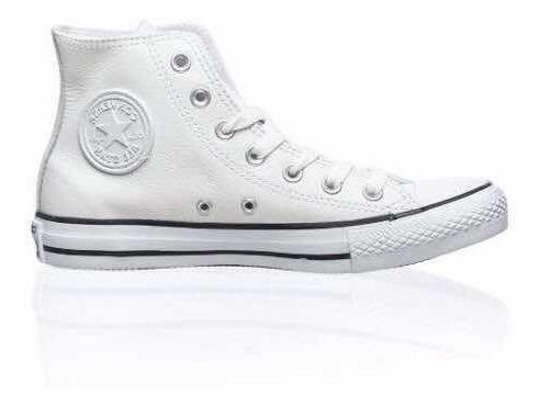 Zapatillas Converse Dama Chuck Taylor Hi Cuero Blancas