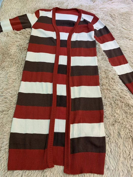 Blusa De Frio Casco Lã Tricô Listada Colorita Moda B10