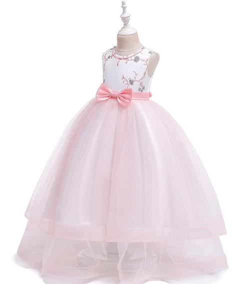 Vestido Niña Fiesta,gala, Cumpleaños/tul/ Rosa Pastel