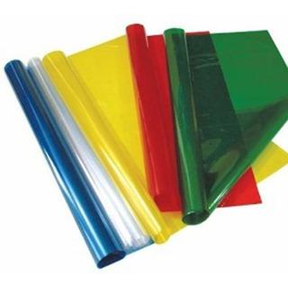 Papel Celofan X10 Hojas 1 Color Traslúcidos 55x90cm
