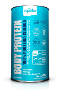 Body Protein 100% Proteína Isolada Sabor Neutro 450g Equaliv