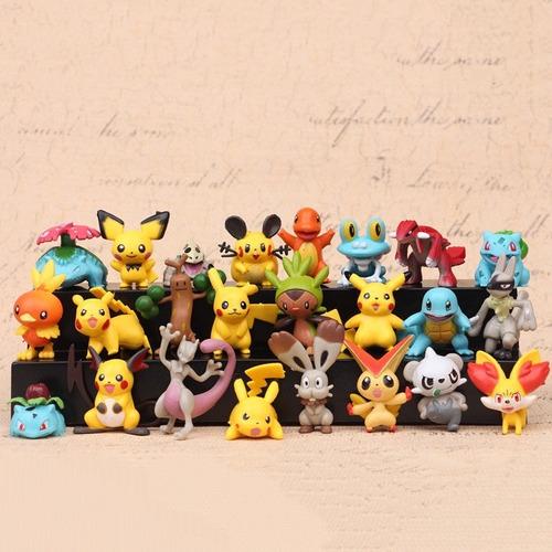 Set 4 Mini-figura Pvc 4-5cm Pokémon Surtidos Viene 1 Pikachu