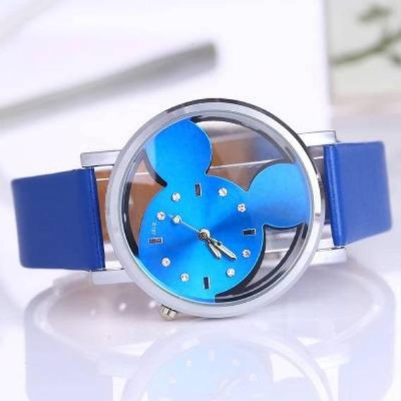 Relógio Feminino Mickey Azul