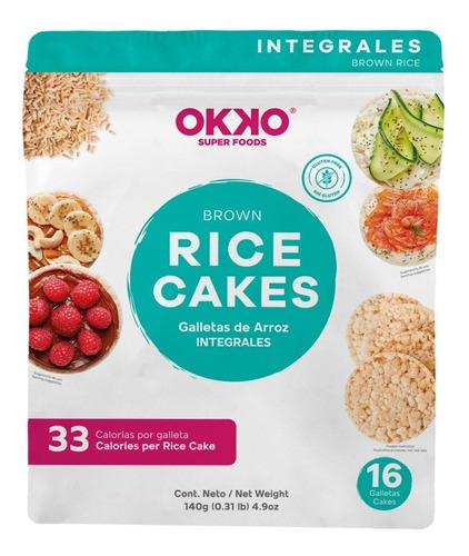Imagen 1 de 4 de Galletas De Arroz Integrales Snack Perfecto Sin Gluten 16pzs