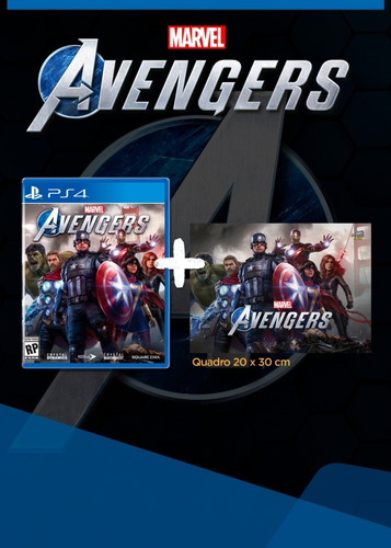 Marvel's Avengers + Quadro Marvel Brinde - Ps4 Mídia Física