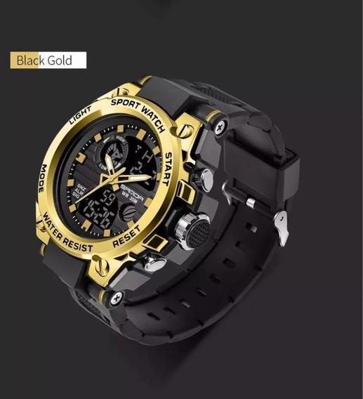 Relógio Sanda Dourado Original Ea Prova D