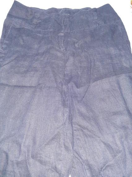 Fresco Pantalon Para Dama Color Azul Marino.
