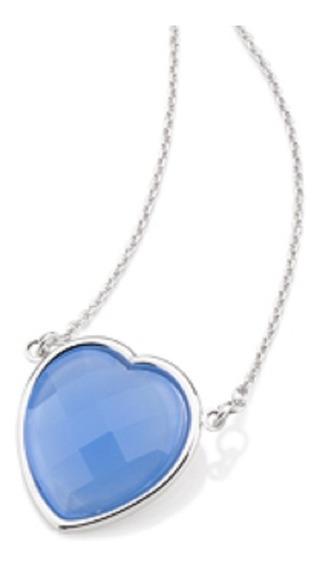 Gargantilha Rommanel Em Rhodium E Coração De Cristal 130306