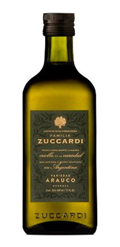 Imagen 1 de 5 de Aceite De Oliva Familia Zuccardi Arauco 250ml