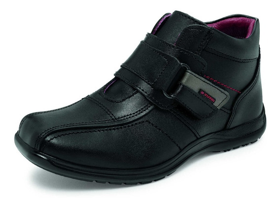 Zapato Escolar Para Niño Yuyin 26190 Negro 18 A 21.5