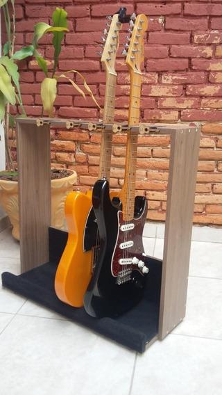 Suporte Guitarras 5 Lugares De Chão Com Travas