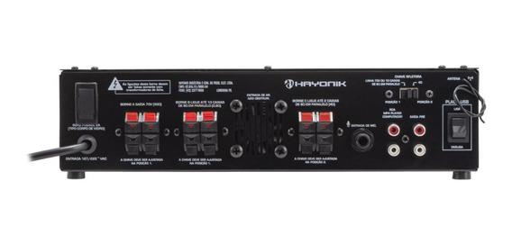 Amplificador Hayonik Pro620 C/ Gongo 70v/4r 100w