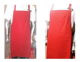 Delantal Cocina Carnicero Gabardina Rojo 0.80 C Regulador