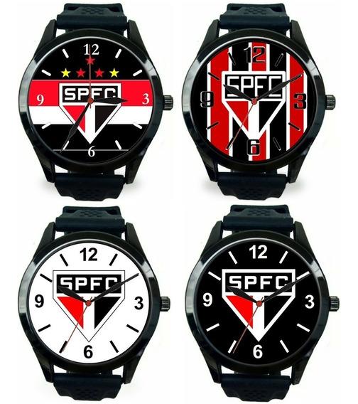 Kit 4 Relógios Pulso Esportivo Masculino São Paulo Barato