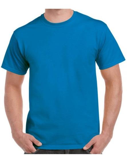Playera Dry Fit Azul Turquesa Cuello Redondo, Para Estampado