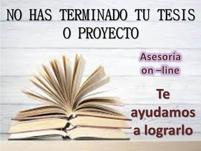 Asesorías De Tesis, Proyectos, Revisión, Correcciones