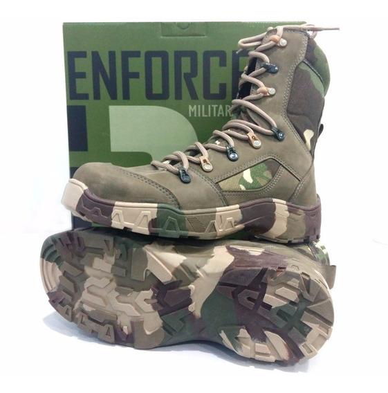 Bota Militar Camuflada Enforcer Strike 2 Dry Impermeável