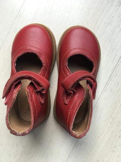 Zapatos Botitas De Cuero Talle 24