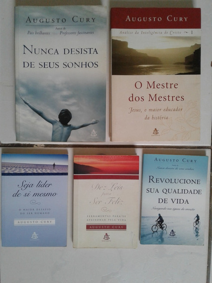 5 Livros De Augusto Cury