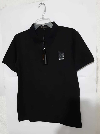 Playera Polo Versace Logo Plastificado