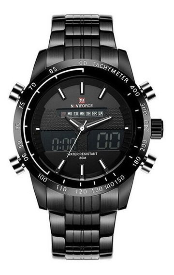 Relógio Masculino Naviforce Quartzo Aço 9024