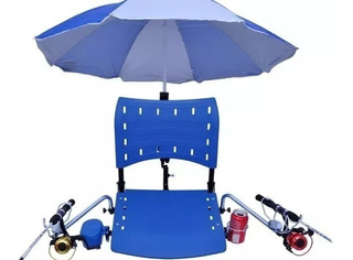 Cadeira Dobrável Barco C/ Todos Suportes Acessorios Completa