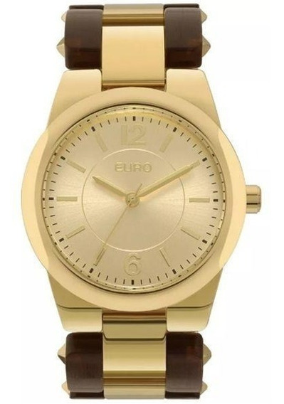 Relógio Euro Feminino Eu2035ylx/4d Acetato Bicolor