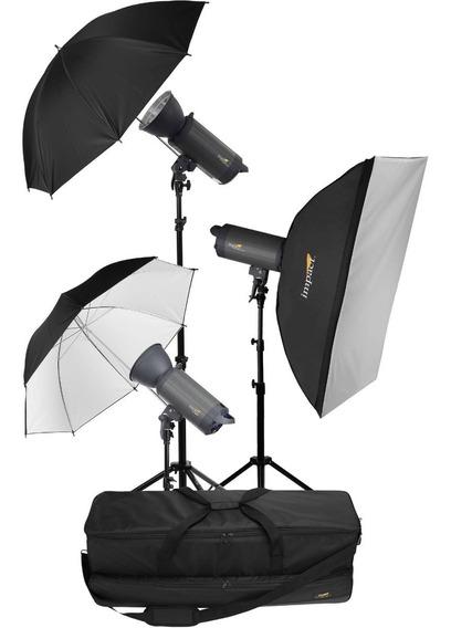 Kit Flash Estudio 3-500ws Impact Vc-500wln C/kit Transmissor