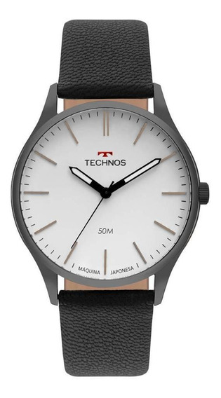 Relógio Technos Couro Masculino Clássico 2035mqq/2b