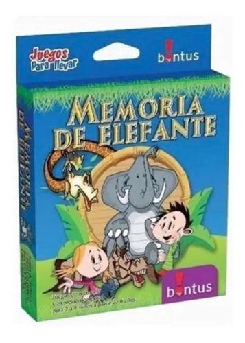 Memoria De Elefante Juego De Mesa Original Bontus