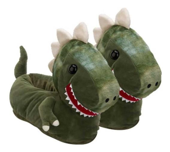 Pantufa 3d Dino - Solado De Borracha - Dinossauro - Ricsen