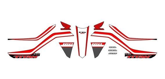 Adesivo Faixas Emblema Cg Titan 160 2020 Personalizado