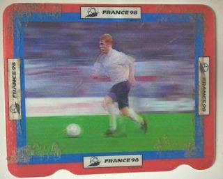 Card Holográfico Coca-cola Copa Do Mundo 98 - Scholes