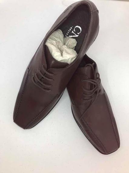 Sapato Social Em Couro Marrom Tamanho 42