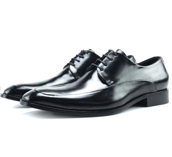 Sapato Social Derby Dressy Queima De Estoque 100% Couro
