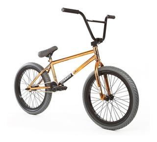 Bicicleta Bmx Profesional Fit Augie ¡dorada! Full Cromo 4130