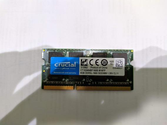 Memória Ram Crucial 8gb 1600mhz
