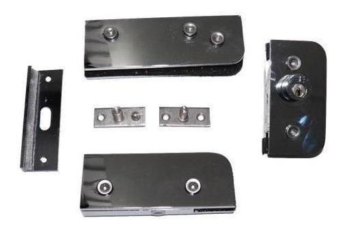 Kit 01 Porta Pivotante Em Alumínio Cromado
