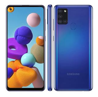 Celular Samsung A21s Dual 6.5 Octa Core 64gb 4gb Ram Azul