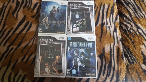 4 Jogos Resident Evil Para Nintendo Wii Lacrados