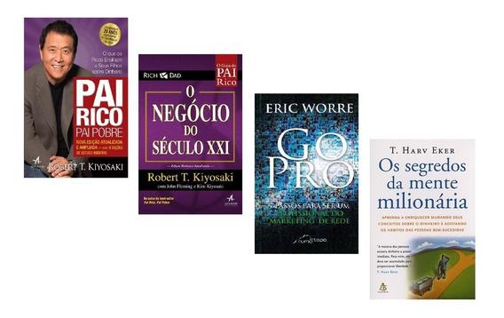 Livros Pai Rico + Negócio Século + Go Pro + Segredos Mente #