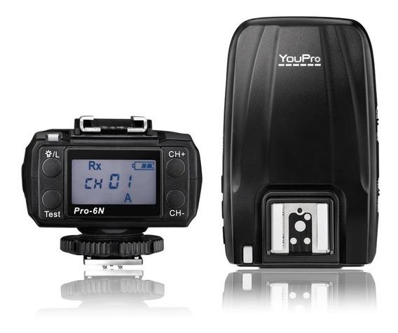 Radio Flash Nikon Pro 6n 2.4g Sem Fio E -ttl 1 / 8000s Hss #