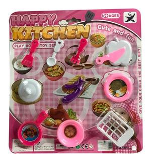 Set Cocina Juguete Con Accesorios Nenas 32 X 34 Cm Blister