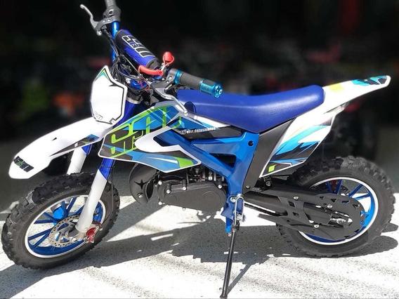 Moto Cross 60cc 2 Tiempos Para Niños A Gasolina